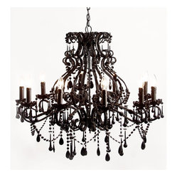 Black Magic 10 Arm Chandelier