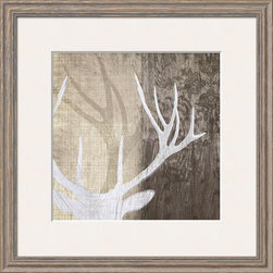 Artcom - Deer Lodge II by Tandi Venter - Deer Lodge II by Tandi Venter is a Framed Giclee Print set with a LANCASTER Gray wood frame and a Polar White mat.