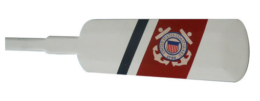 Handcrafted Nautical Decor - Wooden United States Coast Guard Decorative Row Boat Oar 62'' - Classically styled and hand-painted for authenticity, this Wooden United States Coast Guard Decorative Rowing Oar 62'' is the perfect nautical  wall     art  for  any   beach home or  office. Breathing with the  atmosphere   of   the sea,  this nautical wood boat oar decoration is the perfect item to proudly display your connection to the sea.   Enjoy the nautical style of     this decorative star rowing oar  indoors  or out,  and  place  it   with pride. For simple placement and mounting, hooks are provided.--Look at our other wooden boat oar decor for sale: University  Rowing       Wood Boat Oars, Yacht Club Wood Oars, Rowing Club Wood Oars,     Collegiate   Wood Boat Oars, Decorative Rustic  Wood Oars and Decorative     Oars and   Paddles. Our wooden rowing boat oar decorations are   offered   with  and   without hanging hooks in the following sizes: 24'',   36'',  50'',  and  62''.----    Solid wooden oar - handcrafted by our master artisans--    Pefect nautical wall decor- hooks on the back of this oar allow for easy mounting--    Classic patriotic and nautical colors- red, white, and blue--    Carefully hand painted Coast Guard insignia--