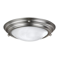 AFX Lighting - AFX Lighting Duomo Flush Mount Flush Mount Ceiling Fixture in Brushed Nickel - Shown in picture: Flush to Ceiling - White swirl Glass diffuser 13W GU24 self ballast lamps included Pre-wired for easy installation. Brushed Nickel Finish.