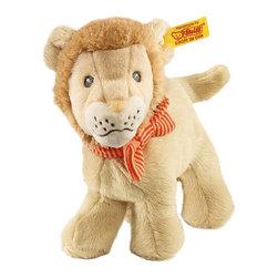 Steiff - Steiff Little Baby Lion Leo - Steiff Little Baby Lion Leo is made of beige plush for baby-soft skin. Machine washable. Handmade by Steiff of Germany.
