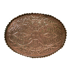 Lavish Shoestring - Consigned Large Arts & Crafts Celtic Copper Tray, Antique English, circa 1900 - This is a vintage one-of-a-kind item.