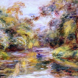 "Pierre Auguste Renoir Little River - 16"" x 24"" Premium Archival Print - 16"" x 24"" Pierre Auguste Renoir Little River premium archival print reproduced to meet museum quality standards. Our museum quality archival prints are produced using high-precision print technology for a more accurate reproduction printed on high quality, heavyweight matte presentation paper with fade-resistant, archival inks. Our progressive business model allows us to offer works of art to you at the best wholesale pricing, significantly less than art gallery prices, affordable to all. This line of artwork is produced with extra white border space (if you choose to have it framed, for your framer to work with to frame properly or utilize a larger mat and/or frame).  We present a comprehensive collection of exceptional art reproductions byPierre Auguste Renoir."