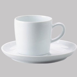 "Kahla - Five Senses Hazy 8.5 Oz Cafe Americano Cup (Set of 4) - Enjoyable company, the right ingredients, and sensible but beautiful tableware simply go together. Five Senses is a versatile porcelain concept for todays kitchen and table. Sensuous and with an eye-catching form, this modern dinnerware is sensible and surprisingly functional. With its tender transparent tone, the ""Hazy"" pattern is a truly unusual floral decor that exudes the lightness of being. Perfect for serving just one as well as your most anticipated dinner parties, the Five Senses collection boasts extraordinary cups, plates, dishes and more. These modern classics take porcelain dinnerware to a new level of gourmet preparation and presentation. Five Senses Awards: -IDEA (Industrial Design Excellence Award) USA 2004 -iF Design Award (Hanover) -Good Design Award (Chicago) 2003 -Auszeichnung beim Designpreis Thüringen 2003 -Good Design Award (Japan) 2003 -Form 2003 -reddot design award 2002 -DDC-Preis 2002 Deutscher Designer Club -Form 2001 Features: -Microwave safe -Dishwasher safe -Freezer safe -Overall Dimensions: 8.5 oz capacity"