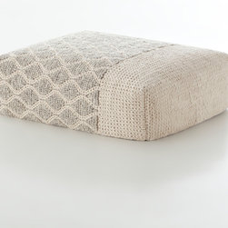 Gandia Blasco - Gandia Blasco Mangas Rectangular Rhombus Ivory Pouf - This module comes from the Gan Collection with Gania Blasco. It is made from 100% Wool. The module is filled with polyester and foam rubber for support. This module comes in four different colors.