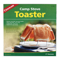 Coghlan's - Coghlans Camp Stove Toaster - The original Camp Stove Toaster performs perfectly, toasting up to four slices at a time. Durable steel construction with coated wiresfold flat for easy packing and will not rust.Diameter: 9? (22.9 cm)