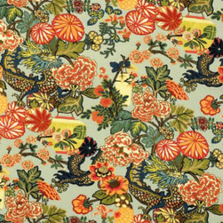 Chiang Mai Dragon Fabric - No matter how often I see Schumacher's colorful Chiang Mai print, I still adore it. Despite its bold palette and pattern, the fabric is surprisingly versatile, working in both traditional, eclectic and Asian decor effortlessly.
