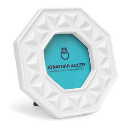 Jonathan Adler Picture Frame, Charade - This Jonathan Adler frame creates an easy focal point in any vignette around your home. The octagonal shape will certainly make it stand out from the crowd.