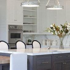 White and Grey Kitchen - Contemporary - kitchen - Milton Development