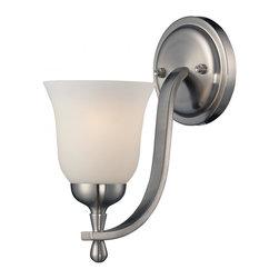 Joshua Marshal - One Light Brushed Nickel Wall Light - One Light Brushed Nickel Wall Light