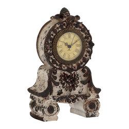Unique Styled Fantastic Ceramic Table Clock - Description: