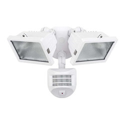 Globe Electric - Globe Electric 79127 300 Watt Two Light Halogen Motion Sensor Outdoor Flood Ligh - Features: