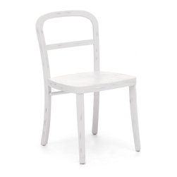 Zuo Modern - Zuo Modern 98062 Fillmore Chair White - Sold in Sets of 2 - Simple and refined, the Filmore chair's carved, solid elm frame and smooth seat will not overpower any setting. Comes in natural, antique white, and antique black finishes.
