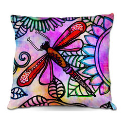 DiaNoche Designs - Pillow Woven Poplin from DiaNoche Designs by Robin Mead - Inner Light - Toss this decorative pillow on any bed, sofa or chair, and add personality to your chic and stylish decor. Lay your head against your new art and relax! Made of woven Poly-Poplin.  Includes a cushy supportive pillow insert, zipped inside. Dye Sublimation printing adheres the ink to the material for long life and durability. Double Sided Print, Machine Washable, Product may vary slightly from image.