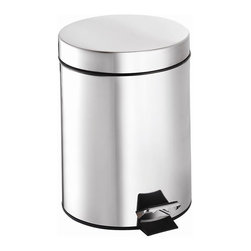 Croydex - Large Pedal Trash Can - QA107305YW - Manufacturer SKU: QA107305YW. Professional Range. 5 liter (1.32 gallon) capacity. Stainless Steel Finish. High Quality Polished finish. Free Standing. 8.07 in. W x 10.63 in. L x 10.63 in. HA comprehensive range of bathroom accessories that is ideal for commercial applications such as hotels and housing developments. The stylish design compliments any bathroom setting and the range covers everything from towel racks and toilet roll holders to bottle openers and washing lines for over the bath!