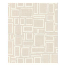 Graham and Brown - Paintables Super fresco Wallpaper - Squares Pattern - Designed by Array. Part of the Paintables Wallpaper Collection. Materials: White paintable vinyl. Wallpaper arrives white to custom paint, or apply as is.