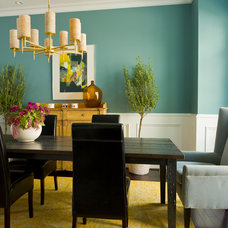 Farmhouse Dining Room by Margaret Carter Interiors