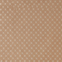 Light Brown Embroidered Diamonds Suede Upholstery Fabric By The Yard - P2921 is a heavy duty upholstery grade suede polyester fabric. This fabric is great for all indoor applications.