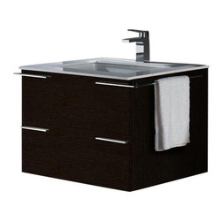 Vigo - VIGO VG09003104K1 Bathroom Vanity - The perfect combination of form and function, this vanity will impress your most discerning guests. With the snazzy drawer pulls that match the wraparound hand towel rack shining away, your whole bathroom will gleam.
