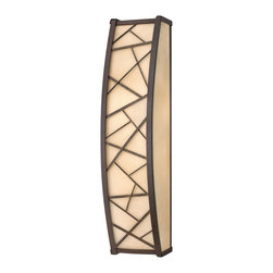 Frederick Ramond - Fredrick Ramond Nest 2-Light Vertical Bath - Nest finds its inspiration from patterns found in nature. This contemporary chandelier collection conveys an organic modern elegance in an Oil Rubbed Bronze finish complemented by distressed amber etched glass.