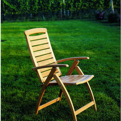 Catalina Adjustable Chair - I love that this teak chair offers four different positions, as well as the convenience of being foldable.