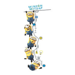 York Wallcoverings - Despicable Me Minions Growth Chart Self-Stick Wall Decal - FEATURES: