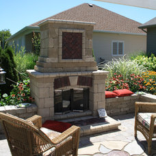 Traditional Patio by A Cultivated Art Inc.