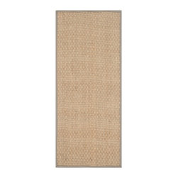 """Safavieh - Harper Natural Fiber Rug, Natural / Grey 2'6"""" X 10' - Construction Method: Power Loomed. Country of Origin: China. Care Instructions: Vacuum Regularly To Prevent Dust And Crumbs From Settling Into The Roots Of The Fibers. Avoid Direct And Continuous Exposure To Sunlight. Use Rug Protectors Under The Legs Of Heavy Furniture To Avoid Flattening Piles. Do Not Pull Loose Ends; Clip Them With Scissors To Remove. Turn Carpet Occasionally To Equalize Wear. Remove Spills Immediately. Hand-woven with natural fibers, this casual area rug is innately soft and durable. This densely woven rug will add a warm accent and feel to any home. The natural latex backing adds durability and helps hold the rug in place."""
