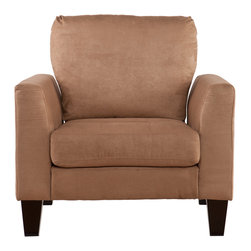 SEI - Carlton Stationary Chair - Mocha - Don't sit back and let the chance of owning this gorgeous living room chair pass you by. Take a moment to enjoy the ultimate in comfort and relaxation with this outstanding chair. This chair features a luscious mocha microfiber that you will sink right into. The squared arms offer clean design, and the beautiful toss pillows serve as the perfect accent. This chair is easy to assemble making it the perfect choice for any home. In approximately five minutes, you can assemble this chair without any tools or formal training. It features an easy to assemble design utilizing connecting brackets and allows you to simply click each piece into place. The ease of assembly doesn't end once you assemble this chairdisassembling and reassembling is a breeze for stress-free moving or rearranging. This chair complements homes with transitional to modern decor. Add this chair to your living room or family room today!