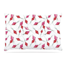 """Kess InHouse - Heidi Jennings """"Go Fly A Kite"""" White Pink Fleece Dog Bed (30"""" x 40"""") - Pets deserve to be as comfortable as their humans! These dog beds not only give your pet the utmost comfort with their fleece cozy top but they match your house and decor! Kess Inhouse gives your pet some style by adding vivaciously artistic work onto their favorite place to lay, their bed! What's the best part? These are totally machine washable, just unzip the cover and throw it in the washing machine!"""
