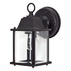 "Nuvo Lighting - Nuvo Lighting 60-638 1-Light 9"" Wall Lantern Cube Lantern with Clear Beveled Gla - Nuvo Lighting 60-638 1-Light 9"" Wall Lantern Cube Lantern with Clear Beveled Glass"