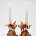 CG - I Believe: Smiling Reindeer with Scarves Taper Candle Holder - This gorgeous I Believe: Smiling Reindeer with Scarves Taper Candle Holder has the finest details and highest quality you will find anywhere! I Believe: Smiling Reindeer with Scarves Taper Candle Holder is truly remarkable.