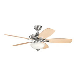 "Kichler - Kichler 337016BSS Canfield Pro 52"" Indoor Ceiling Fan 5 Blades - Remote, - Included Components:"