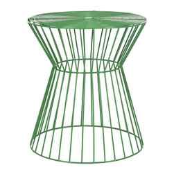 Safavieh - Adele Iron Wire Stool - The chic, clean lines of the Adele iron wire stool are crafted from iron and finished in sleek green for a soft modern look. Solid and sexy, this versatile stool is as welcoming to a wine glass as it is to your extra guests lacking a seat. Use this transitional piece as a sculptural accent in the living room, bedroom or den.