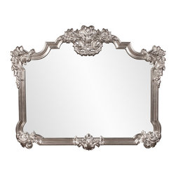 Frontgate - Brighton Mirror - Crafted of durable resin. Bright silver leaf finish. Buffet mirror. Wipe clean with a soft cloth. Finished in a lustrous silver leaf , our Brighton Mirror features an ornate, traditional frame surrounding a rectangular mirror. , this luxurious mirror will make a glamorous addition to every room.  .  .  .  .