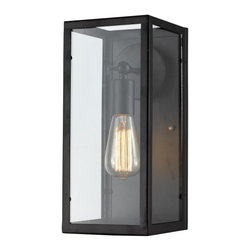 Ohr Lighting® - Ohr Lighting® Edison Light Sconce With Glass Casing, Matte Black/Glass - Features
