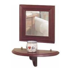 "Renovators Supply - Mirrors Raleigh Red Pine 12"" x 12"" Mirror ONLY 