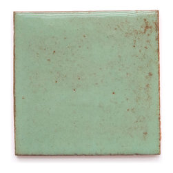 133R Sea Green (Glossy Finish) - Handmade Ceramic Tile - Handmade Ceramic Tile