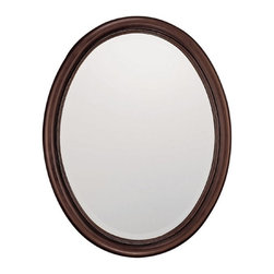 "Capital Lighting - Capital Lighting Burnished Bronze with Beveled Oval Mirror X-532292M - Beveled Mirror-Mirror Size: 22.5""W x 29.5""H"