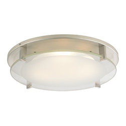 Recesso Lighting by Dolan Designs - Modern Decorative Recessed Ceiling Light Trim with Frosted Glass - 10488-09 - Transform any existing recessed light into a decorative ceiling flushmount light in a matter of minutes. This decorative trim can be used with most 5 to 6 inch recessed housings with a maximum wattage of 23-watts. If the existing light bulb is over 23-watts you can switch the bulb out with a medium base spiral compact fluorescent bulb, The LED retrofit module features a 30,000 hour life, output of 1062 Lumens, 82 CRI and 3,000K color temperature. Wattage is 15.3 and is dimmable to 5% with most dimmers. It is equipped with E26 medium screw-in base socket adapter. UL listed. Dry location rated.