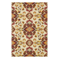"""Loloi Rugs - Loloi Rugs Mayfield Collection - Multi / Red, 5' x 7'-6"""" - Hand-hooked in India of 100% wool, the affordable Mayfield Collection features a set of versatile transitional designs in a knobby, chunky loop texture that are as easy on the feet as they are on the eyes. Designs range from floral reinterpretationsto wildly popular chevron patterns, all in a full spectrum of colors that are sure to liven up any room."""
