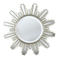 "Kenroy Home - Kenroy Home 60041 34"" Circular Wall Mirror Francisco Collection - 34"" Circular Wall Mirror from the Francisco CollectionKenroy Home offers the finest in decor, performance, and value.  Their chandeliers, ceiling lighting and indoor and outdoor wall lighting capture the essence of lighting technology, and combine it with styling points of view ranging from classical and traditional, to contemporary and casual.  Kenroy lamps and portable lighting utilize a wide variety of materials, and create artistic elements that complement your home furnishings as well as make their own statements.  Particular care is paid to hand applied polishing and painting, matched with the finest in glass and shade treatments.  Fountains are the latest Kenroy Home category entry, and are designed and crafted to blend with various interior and exterior decors. They add soothing movement and the gentle sounds of falling water to unique artistry created in real and simulated stone, metal and ceramics.Echoing the ornaments found inside Italian churches, this mirror's commanding proportions make a big impact when contrasted with an Antique Silver finish."