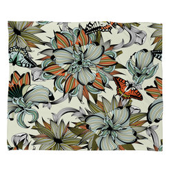 DENY Designs - Sabine Reinhart Blooming Garden Fleece Throw Blanket - This DENY fleece throw blanket may be the softest blanket ever! And we're not being overly dramatic here. In addition to being incredibly snuggly with it's plush fleece material, it's maching washable with no image fading. Plus, it comes in three different sizes: 80x60 (big enough for two), 60x50 (the fan favorite) and the 40x30. With all of these great features, we've found the perfect fleece blanket and an original gift! Full color front with white back. Custom printed in the USA for every order.
