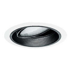 Juno Lighting Group - Gimbal Ring for 6-Inch Recessed Housing - 224W-WH - This white gimbal ring has an inner baffle and white trim ring. It measures 7-5/8 inches wide with a 5-3/4-inch aperture. It can be vertically adjusted 30 degrees and For use with recessed housing [23015], [23208] and [23209] only. Takes (1) 75-watt halogen PAR38 bulb(s). Bulb(s) sold separately. Dry location rated.