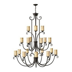 Hinkley Lighting - Hinkley Casa Olde Black 18-Light 56 Wide Grand Chandelier - Casa makes the most of its fine details- individually unique antique scavo glass twisted wrought iron and hand-forged scrollwork in an Olde Black finish complete its rustic-chic appeal with a Southwestern flair.Under four generations of family leadership Hinkley Lighting has transformed from a small outdoor lantern company to a global brand intent on bringing you the best in style quality and value. LIFE AGLOW: That's their mantra and they take it seriously. By welcoming their products into your home they become part of your family's everyday life illuminating small moments and big occasions. They understand your home is so much more than a physical place. It's an emotional space designed by you so they are committed to keeping your 'Life Aglow' with stylish state-of-the-art lighting. Their products are the ultimate combination of style and substance. They are constantly developing new technologies to make their fixtures even more energy efficient. Hinkley recently upgraded their LED to cutting-edge high lumen output integrated solutions and they give you hundreds of energy-efficient styles to choose from. Even their Cleveland-based world headquarters employs high energy saving standards with low VOC materials and a variety of eco-smart applications into the design to make an earth-friendly work environment for their Hinkley family. Hand crafted fixtures luxe finishes artistic details and quality materials go into the design of every product they make. They embrace the philosophy that you can merge together the lighting furniture art and accessories you love into a beautiful environment that defines your own personal style.