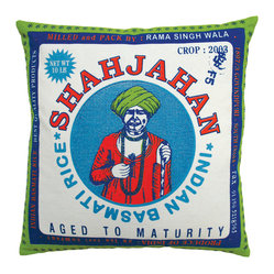 Vintage Rice Sack Pillow, Basmati