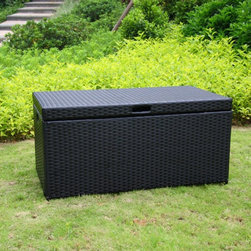 Jeco - Jeco Outdoor Wicker Patio Furniture Storage Deck Box - ORI003-C - Shop for Sheds and Storage from Hayneedle.com! Versatile and stylish the Jeco Outdoor Wicker Patio Furniture Storage Deck Box is the perfect accent patio space or deck outdoors. The trunk is made with a steel frame and tightly woven resin wicker panels that won't crack fade splinter or warp. It's ideal for storing pillows blankets and towels. A hinged top lid allows for easy opening convenience and there's also a chain stopper to prevent the top from flipping backwards. Handles on both sides of the trunk make it easy to move. About Jeco Inc.Whether it's a timeless traditional design you're looking for or something more modern and contemporary Jeco Inc. likely has something to suit your relaxation needs. Offering numerous types of patio furniture indoor furniture water fountains home decor and pet products the company formed in 2009 works with designers that search the world for inspiration and create innovative yet functional products that are built with quality and durability.