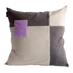 Blancho Bedding - [Happy Pieces] Knitted Fabric Patch Work Pillow Floor Cushion (19.7 by 19.7'') - Aesthetics and Functionality Combined. Hug and wrap your arms around this stylish decorative pillow measuring 19.7 by 19.7 inches, offering a sense of warmth and comfort to home buddies and outdoors people alike. Find a friend in its team of skilled and creative designers as they seek to use materials only of the highest quality. This art pillow by Onitiva features contemporary design, modern elegance and fine construction. The pillow is made to have invisible zippers, knitted fabric shells and fill-down alternative. The rich look and feel, extraordinary textures and vivid colors of this comfy pillow transforms an ordinary, dull room into an exciting and luxurious place for rest and recreation. Suitable for your living room, bedroom, office and patio. It will surely add a touch of life, variety and magic to any rooms in your home. The pillow has a hidden side zipper to remove the center fill for easy washing of the cover if needed.