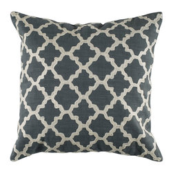 "Gray Ivory Graphic Design 18"" x 18"" Pillow  Set of 2 - *18"" x 18"" Pillow with Hidden Zipper"