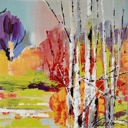 Paragon Decor - Into the Woods II Artwork - A bright happy landscape features gallery style wrap.